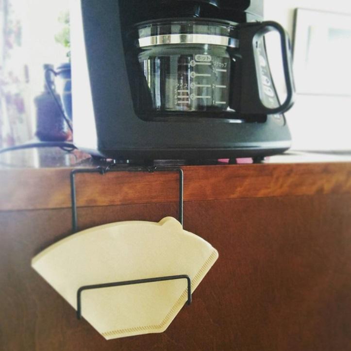 【DIY】100均ワイヤースタンドをリメイク★コーヒーの円錐形フィルターも入れられるホルダーを作りました!